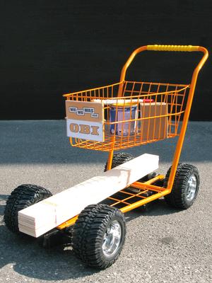 Obi, ferngesteuerter Einkaufswagen