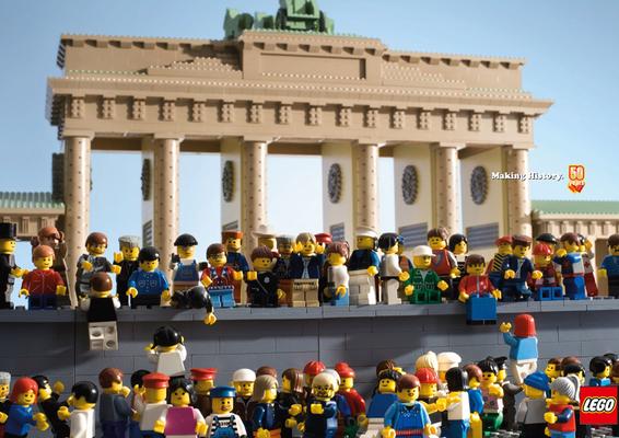 Lego-Brandenburger Tor, Maueröffnung