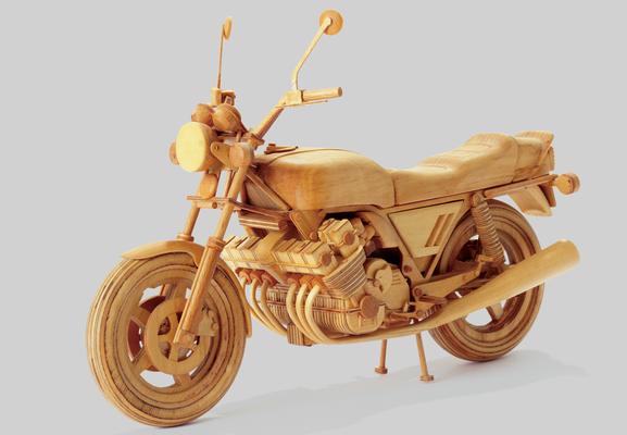 Honda, Nachbau aus Holz, Größe ca. 40cm