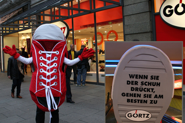 Görtz- Promotion, Turnschuh-Walking-Act