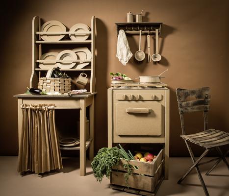 Wellpappe-Küche, Foto F.von Wieding