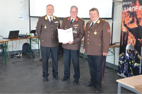 BR Richard Fuchs, EHBI Reinhard Hinterecker, LFR Anton Weiss