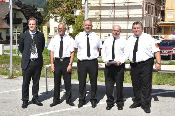 BH-Stv. Nikolaus Seitschek, ELFR Helmut Warta, BR Richard Fuchs, LM Horst Ploderer, LFR Anton Weiss