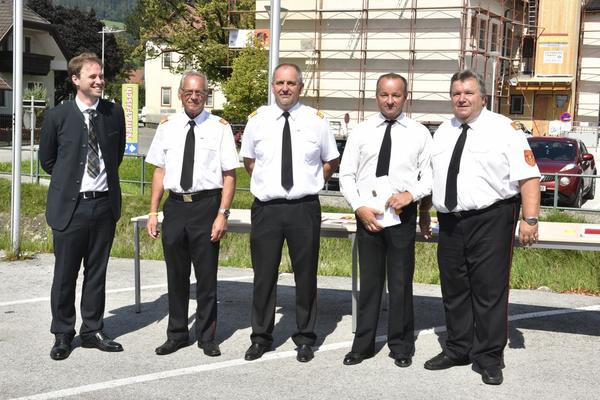 BH-Stv. Nikolaus Seitschek, ELFR Helmut Warta, BR Richard Fuchs, LM Christian Sommerer, LFR Anton Weiss