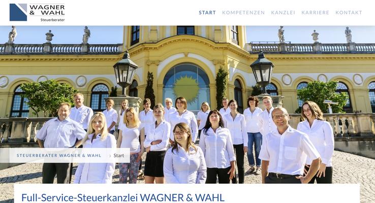 Website Wagner & Wahl Ansicht PC
