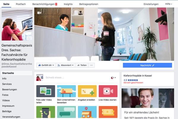 Facebook-Profil Dres. Sachse