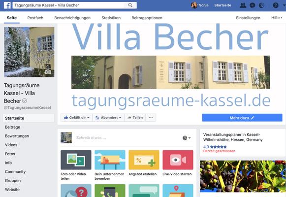 Facebook-Profil Villa Becher