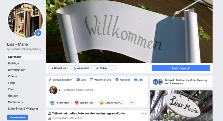 Facebook-Profil Lisa-Marie