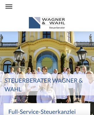 Website Wagner & Wahl Ansicht MOBIL