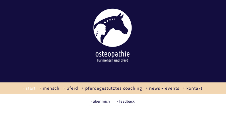 """Website für """"Osteopathie für Mensch & Pferd"""", Lisa Kullmann, Hamburg"""