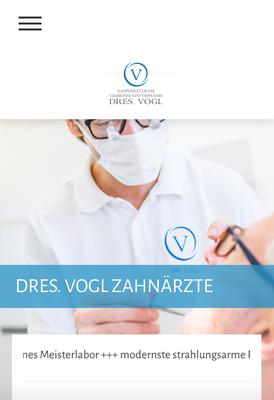 Website Dres. Vogl Ansicht MOBIL