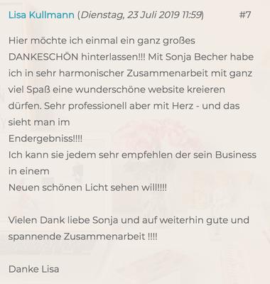 """Feedback von """"Osteopathie für Mensch & Pferd"""", Lisa Kullmann, Hamburg"""
