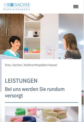 Website Dres. Sachse Ansicht MOBIL