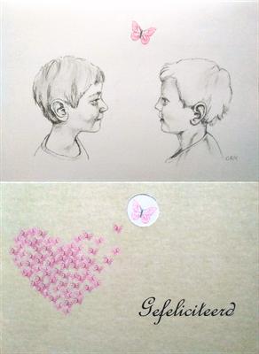 huwelijkscadeau, fineliner op papier