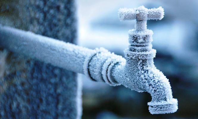 Wasser abstellen bei Frost