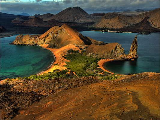Bartolome island photo taken from above, ©Galapagos Shark Diving