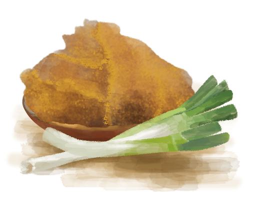 味噌 ネギ イラスト