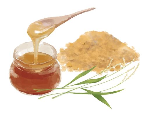 蜜 きな粉 イラスト