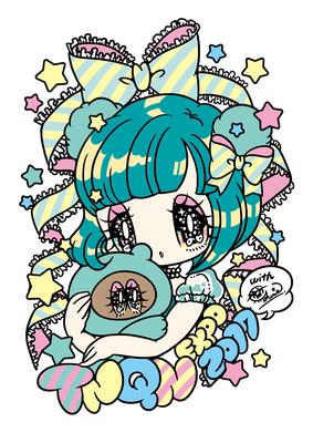 夢眠ねむオリジナルキャラクター「たぬきゅん展」イラスト