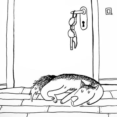 Wenn Mats und Susa im Schlafzimmer spielen, wartet Karl stets brav auf den Dielen.