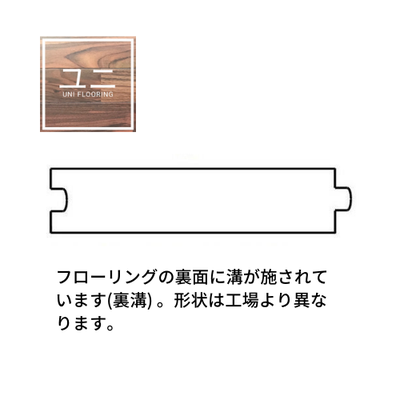 形状についてUNIフローリング断面図