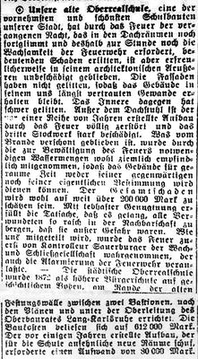 Getroffene Oberrealschule Bericht (Bild: Archiv Oehler)