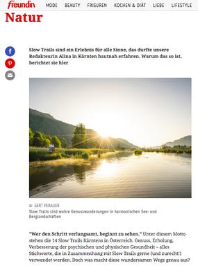 Slow Trails in Kärnten - Freundin.de (Juli 2021)