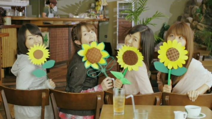 --- und als sie die Freundinnen mit den selbstgebastelten Sonnenblumen sieht ---