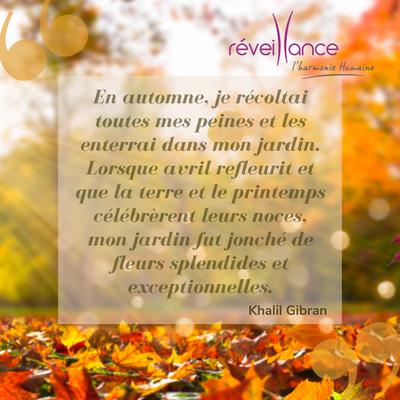 citation inspirante de Khalil Gibran sur l'automne