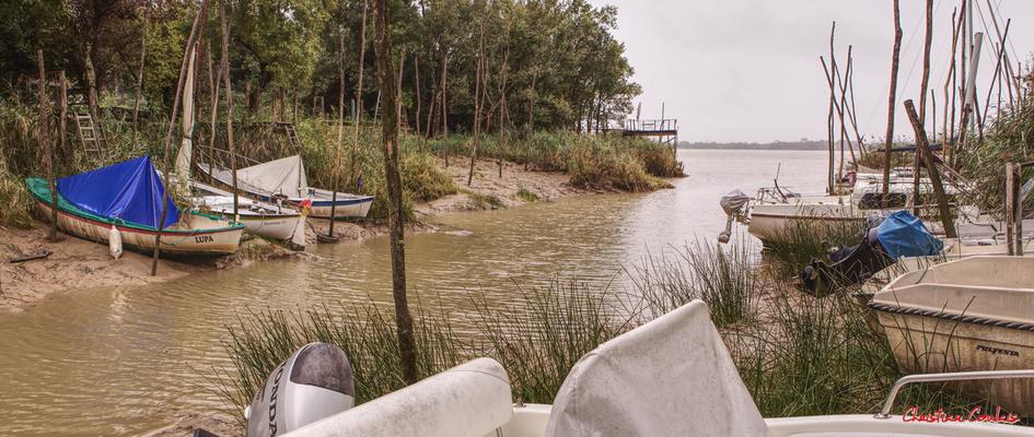 Le ruisseau de Grenet se jette à Roque de Thau, port estuarien de la Gironde. Villeneuve/Gauriac, samedi 26 septembre 2020. Photographie HDR © Christian Coulais