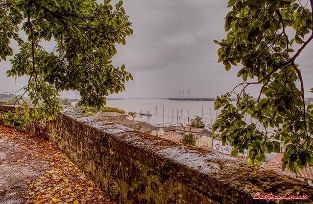 Le belvédère de Bourg-sur-Gironde. Samedi 26 septembre 2020. Photographie HDR © Christian Coulais