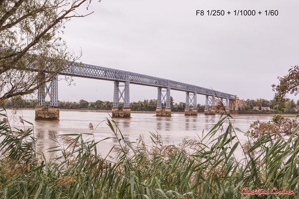 Rivage et pont routier Gustave Eiffel. Cubzac-les-ponts, samedi 26 septembre 2020. Photographie HDR © Christian Coulais