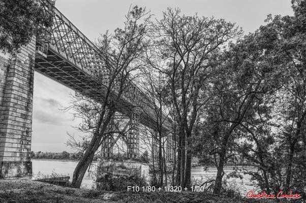 Pont routier Gustave Eiffel, Cubzac-les-ponts. Samedi 26 septembre 2020. Photographie HDR © Christian Coulais