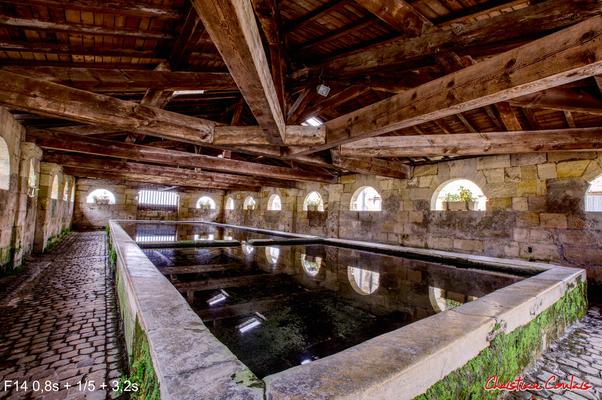 Le lavoir de Bourg-sur-Gironde (1828). Samedi 26 septembre 2020. Photographie HDR © Christian Coulais