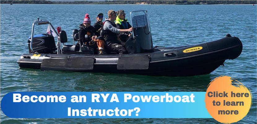 Become an RYA Powerboat Instructor, powerboat instructor course