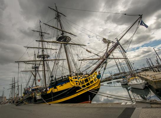 Piratenschiff in Saint Malo