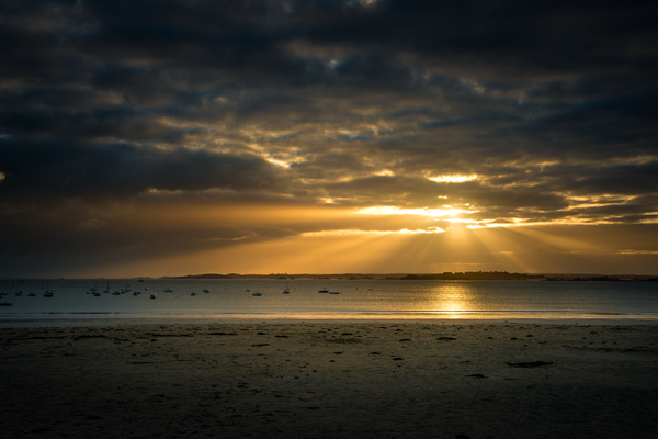 Sonnenaufgang in Saint Cast