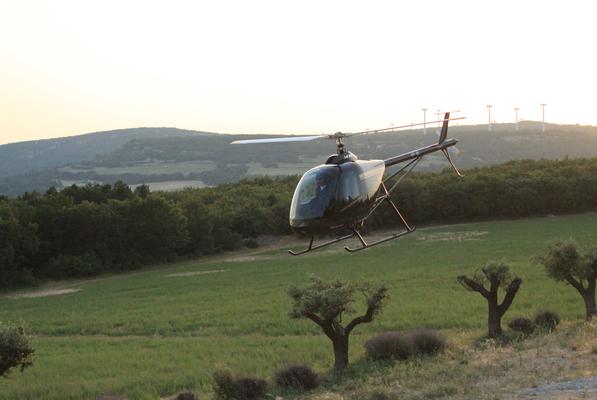 Piste d'hélicoptère au sein du domaine