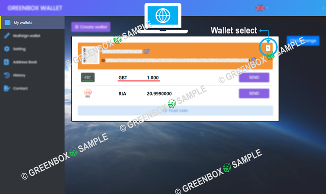 How to GreenBox Wallet - Chat Point exchange