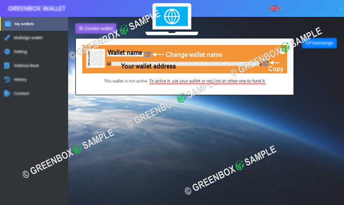 GreenBox Wallet - How to create wallet