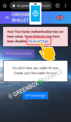 Green Box Wallet setting