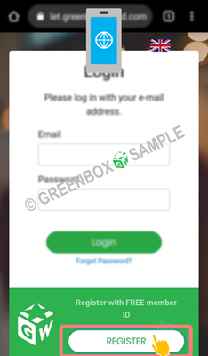 Green Box Wallet - Register