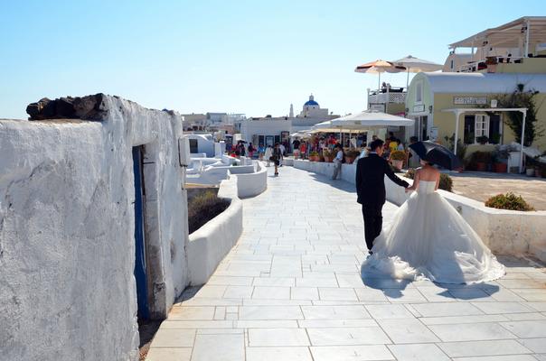 サントリーニ  新婚旅行