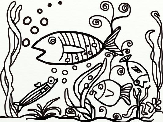 Aquarium, gemalt mit ArtRage von B. Hunger