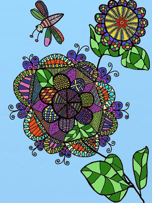 Phantasieblume, gemalt mit ArtRage von B. Hunger