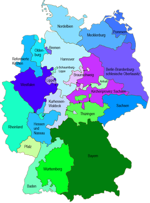 Evangelische Landeskirchen in Deutschland
