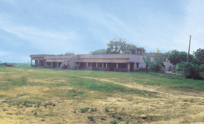Das noch nicht renovierte Kinderheim