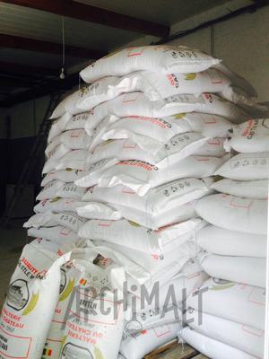 Les sacs de malt de la microbrasserie de Saint-Alban-Leysse