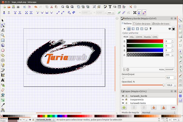 Logo vectorial en Inkscape