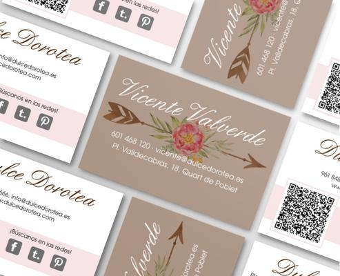 Diseño de tarjetas de visita  | Dulce Dorotea